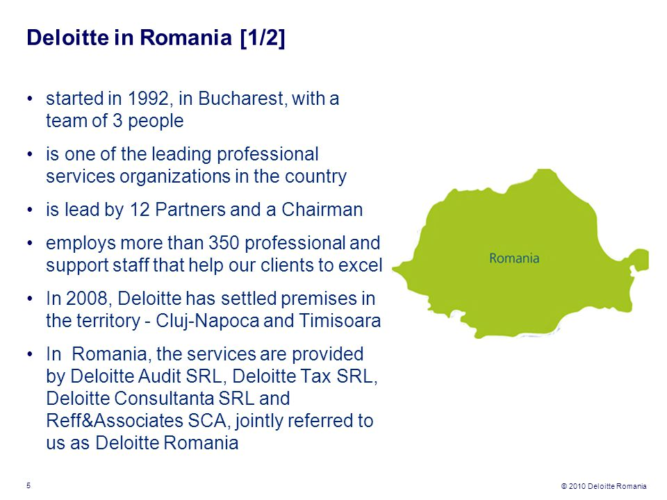 Deloitte in Romania [1/2]